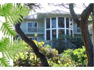 View of Hamoa Beach House from the shoreline - Hamoa Beach House ~ great house, amazing location! - Hana - rentals