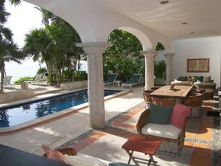 Los Primos is the best ocean front villa w/pool, in a secure gated community - Akumal vacation rentals