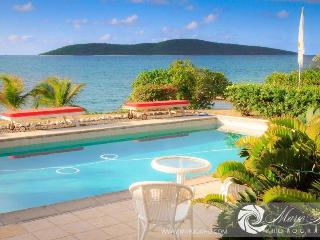 Beachfront house dock pool privacy luxury - Christiansted vacation rentals