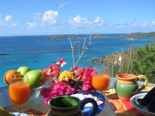 Enjoy breakfast al fresco while overlooking the caribbean Sea. - Sunflower Studio at Stonehouse - Saint Thomas - rentals