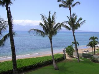 View From 307 Lanai - Direct Oceanfront Studio 307 -Valley Isle Resort - Lahaina - rentals