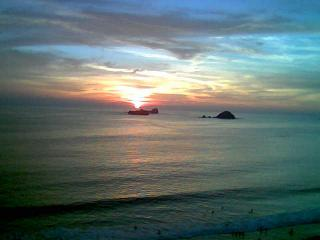 Sunset from the Lanai - Ixtapa Mexico Bay View Grand Charming 12th Floor - Ixtapa - rentals