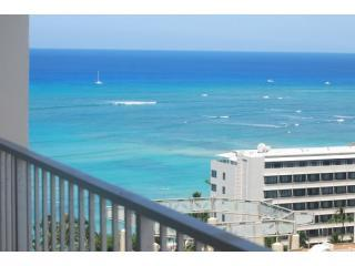 Tropical ocean view from the balcony - Gorgeous studio in Waikiki - Uli Hale - Honolulu - rentals