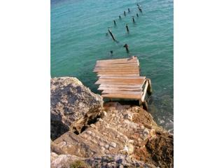 Take these steps into the clear blue water of the Spanish Lagoon - Aruba Bed & Beach - Aruba - rentals