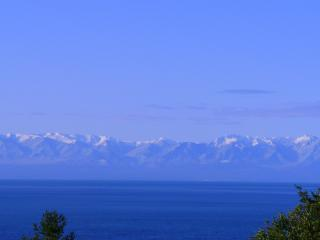View of Haro Strait, Victoria BC, Olympic Mtns. from the deck - HARO HAIKU - San Juan Island, west side views - Friday Harbor - rentals