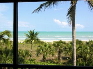 Beach View from Lanai and Living Room - Sanibel Island Sanddollar C201 - Sanibel Island - rentals