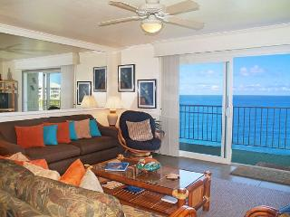 Alii Kai 5304: Fabulous view, lots of extras, top floor corner + oceanfront! - Princeville vacation rentals