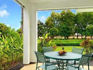 Emmalani Court 411: Spacious, air-conditioned 2br/2ba, brief walk to beach! - Princeville vacation rentals