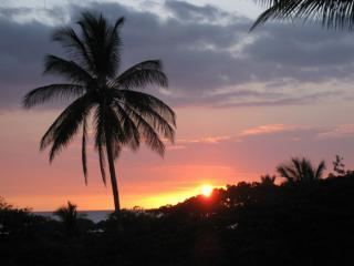 SUNSET FROM OUR LANAI - overlooking the Pacific Ocean  - A201 VISTA WAIKOLOA  DELUXE - OCEAN VIEW-2 BDR - Waikoloa - rentals