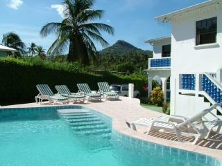 Front View with pool. - Blue Skies Apartments St. Lucia - Gros Islet - rentals