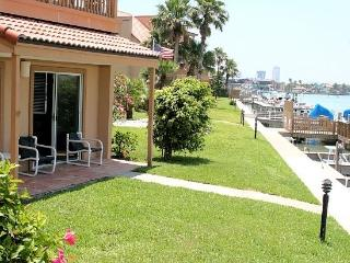 La Solana #111 Bay front condo opens up to the docks and your reserved boat slip. - Port Isabel vacation rentals