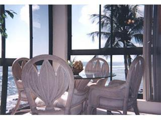 PANORAMIC OCEAN DINING VIEW - Kuhio Shores #314 & 315: Perfect Beachfront Condos - Poipu - rentals