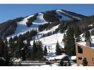 Exterior View & Slopes beyond - Winter Park Place #14: 2-bedroom condo, walk to lifts - Winter Park - rentals