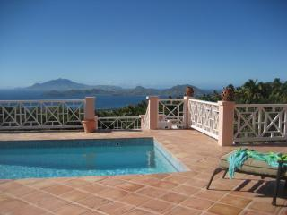 Unobstructed Views  from the Sunset Terrace - Island Time; Privacy, Stunning Views, Pool, Luxury - Nevis - rentals