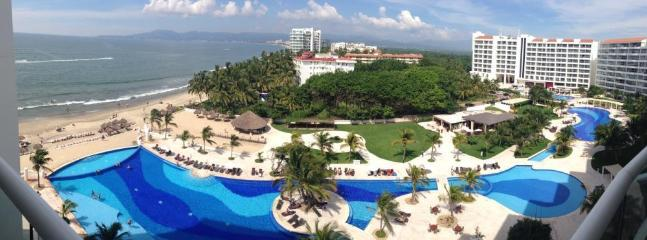 Panoramic View of Villa Magna from our Balcony - Villa Magna 8th Flr Condo - Enjoy DREAMS AMENITIES - Nuevo Vallarta - rentals