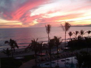 Sunset from the balcony - Villa La Estancia #1403 - Luxury Beachfront - Nuevo Vallarta - rentals