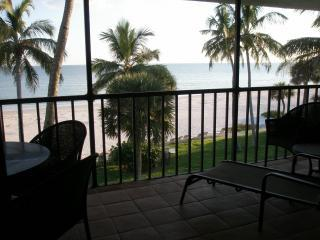 View from the screened lanai - Pointe Santo E34, Direct Gulf Front Luxury - Sanibel Island - rentals