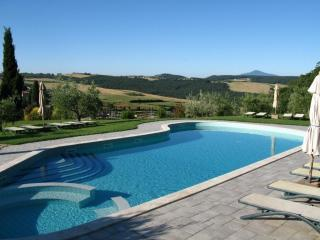 Distant view over the pool at Sant Antonio - Sant' Antonio - 800 year old Monastery in Tuscany - Montepulciano - rentals