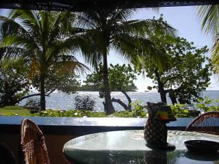 104  deluxe studio ocean view from the patio1.JPG - Negril 7 mile beach Ocean front condo - Negril - rentals