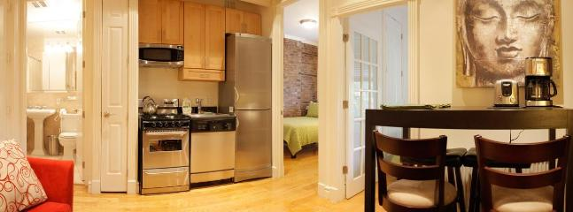 Living Room with Kitchen - Soho Luxury Apartment - New York City - rentals