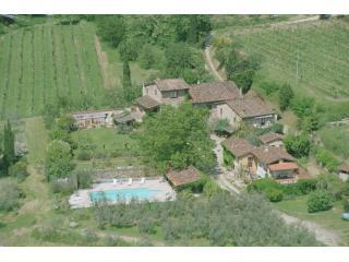 Aerial Picture - Traditional 5 Apartment Resort in Tuscany - Loro Ciuffenna - rentals