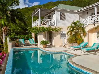 Lime Hill, pool and downstairs patio. - Lime Hill,4 Bedroom Villa  English Harbour Antigua - English Harbour - rentals