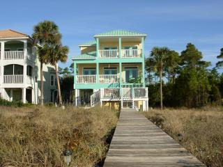 Two Palms From BoardWalk - Gulf Front Cape San Blas- Two Palms Villa-Hot Tub - Port Saint Joe - rentals