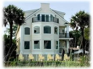 Halcyon Days from Ocean vrbo - Majestic Oceanfront Vacation Home 8 bed 8.5 bath - Hilton Head - rentals