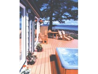 deck - Seaside Cottage on the ocean hot tub gas fireplace - Campbell River - rentals