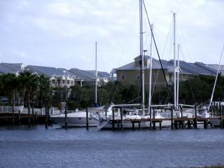 our townhome :  view from the beach/harbor - Luxury waterfront corner townhome  on Tampa Bay - Ruskin - rentals