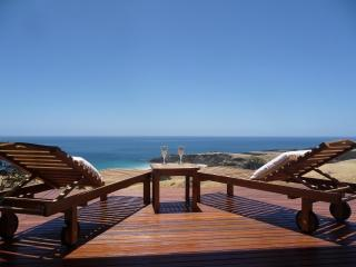a glass of wine on the balcony - Snellings View.on Kangaroo Island - Kangaroo Island - rentals