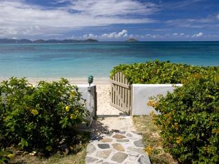 This beachfront villa is designer decorated, with a professional grade kitchen. VG BEA - Mahoe Bay vacation rentals