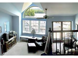 Living Room from Loft - WATER'S EDGE 9 - Lake Placid - rentals
