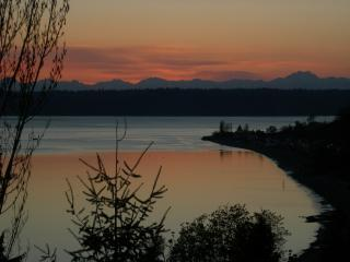 Sunset from the deck - Soundview Cottage - Seattle - rentals