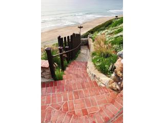 Steps down bluff to Westward beach - Westward BeachThree bedroom Enchanted Sea Cottage - Malibu - rentals