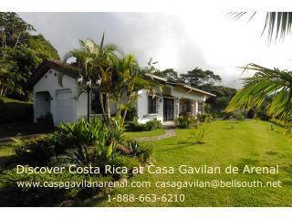 This is the front of Casa Gavilan with the jungle behind, and Lake Arenal in front - Rainforest Villa: 3BRs, Private Pool, Lake View - Nuevo Arenal - rentals