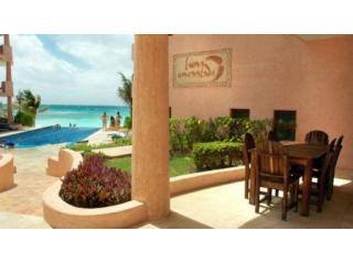 LE-F1-Patio-Best-Jun08 - Luxury Oceanfront 3 Bdrm Condo - Luna Encantada F1 - Playa del Carmen - rentals