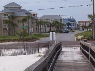 Short walk to beach from the blue townhouse in pic - LOW Rise Townhouse - POOL, water views, reviews - Perdido Key - rentals