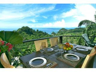 Outdoor Dining Area - Casa 405-Tulemar-Ocean View-Private Beach-Sleeps 8 - Manuel Antonio National Park - rentals