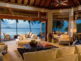 Spacious beachfront oasis Aquamare Villa 3 with lush grounds & heated pool - Virgin Gorda vacation rentals