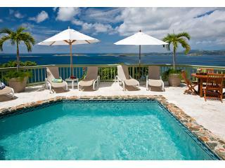 Argonauta pool deck and views abounding - Argonauta 4 bedroom luxury villa on  St John USVI - Cruz Bay - rentals