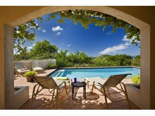 Ristaba's shaded and sundeck at the pool - Ristaba 6 bedroom luxury villa St John USVI - Cruz Bay - rentals