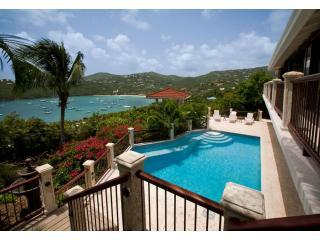Villa BiJou's Spacious pool deck and view to Great Cruz Bay - Villa BiJou Great Cruz Bay St John USVI - Saint John - rentals