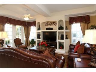 "Main Living room with 47"" HDTV and high definition Onkio home theather - Reunion Resort Mansion - 5 stars 10 mins to Disney - Reunion - rentals"