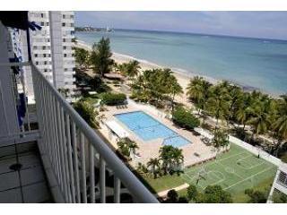 Ocean View from Balcony (w/ Building's Pool) - Ocean View Condo: Isla Verde, San Juan Puerto Rico - San Juan - rentals