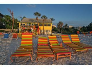 mail size happy ours and lounge chairs near sunset 8788 - Happy Ours-Changes in Attitude, Gulf of Mexico! - Bradenton Beach - rentals