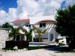 View from the Street - 5 BDR Villa Steps to Beach! Lowest Price in Area - Playa Paraiso - rentals