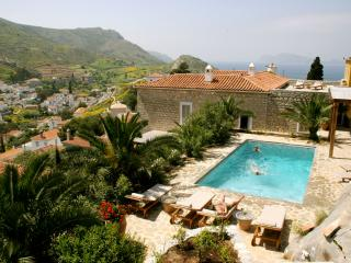Luxury 6 bedroom Hydra villa pool stunning views - Hydra vacation rentals