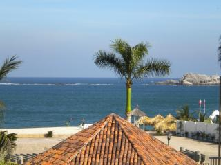 View of the Pacific from Casa Bella - HUATULCO BEACHFRONT 2 BR CONDO WITH STUNNING VIEWS OF THE PACIFIC - Huatulco - rentals