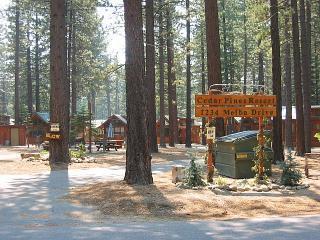 Park enterance - Rustic cedar Cabin located in Cedar Pines Resort - South Lake Tahoe - rentals